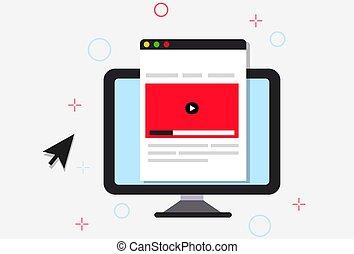 Ilustración de curso en línea