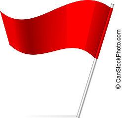 Ilustración del vector de la bandera