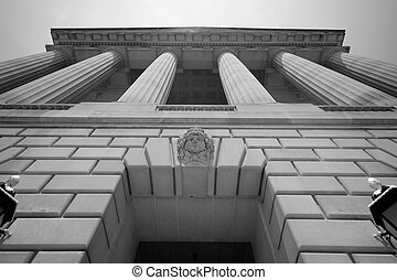 Imponiendo el gobierno construyendo Washington DC
