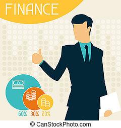 infographics., finanzas