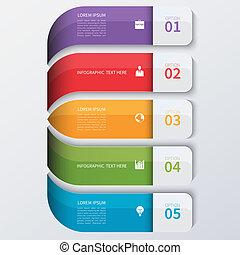 infographics, moderno, opciones, empresa / negocio, banner.