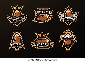 Juegos de logotipos deportivos, juegos en el fútbol americano.