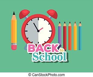 Lápices con alarma de reloj y suministros de colores