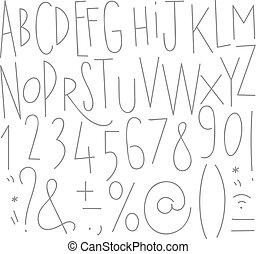 Líneas alfabetizadas