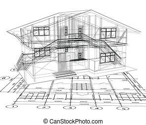 La arquitectura de una casa. Vector