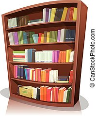 La biblioteca de dibujos animados