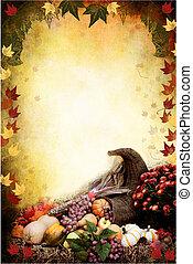 La cornucopia de Acción de Gracias