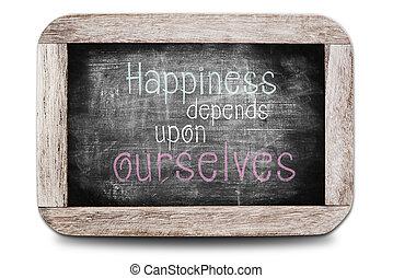 La felicidad depende de nosotros mismos