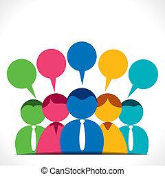 La gente discute o se comunica