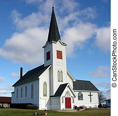 La iglesia del cielo azul