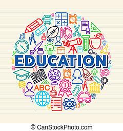 La ilustración del concepto de educación