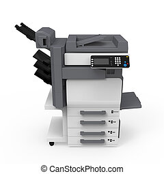 La impresora de multifunción de la oficina
