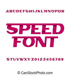 La letra del alfabeto rápido. Letras y números.