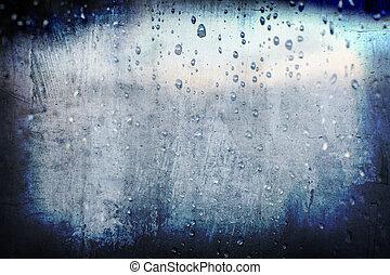 La lluvia abstracta y abstracta
