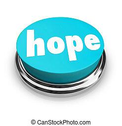 La palabra esperanza boton fe espiritualidad religión