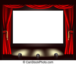 La pantalla del cine