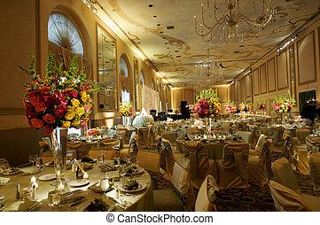 La recepción de la boda final