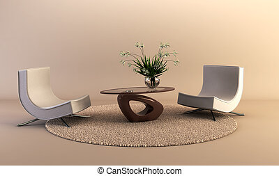 La sala de estar del estilo moderno