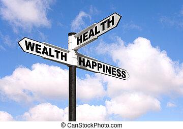 La salud es un signo de felicidad