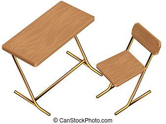 La silla de la escuela infantil