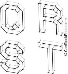Las letras del alfabeto de internet QR S T