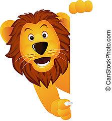 león, bandera