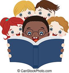 lectura, libros, niños