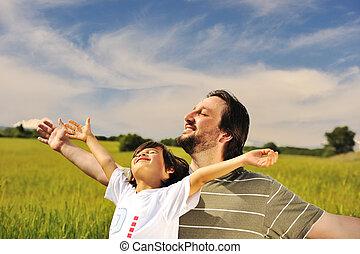 Libertad humana, felicidad en la naturaleza, lista para el futuro