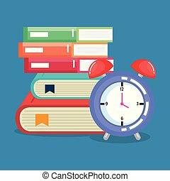 Libros de pilas con despertador