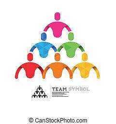 liderazgo, conectado, equipo