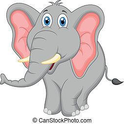 Lindo dibujo de elefante