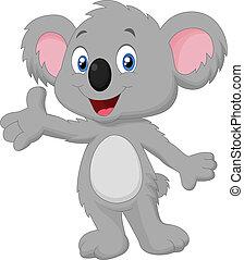Lindo dibujo de koala posando