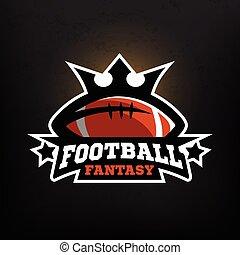 Logo de fantasía de fútbol americano.