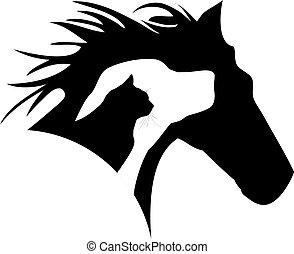 Logo de gato de caballo