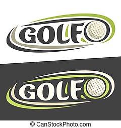 Logos Vector para el deporte de golf