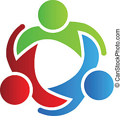 logotipo, 3, diseño, socios de negocio