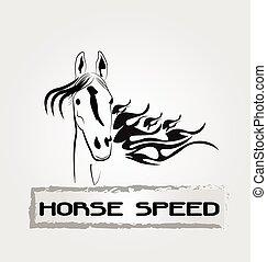 Logotipo de velocidad de caballo