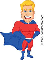 Los dibujos de superhéroes posando