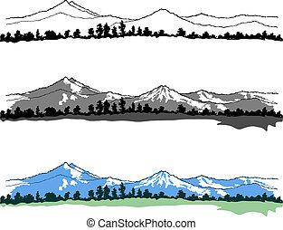 Los paisajes de las montañas