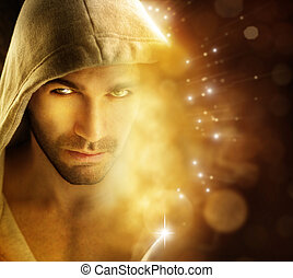 luz, hombre