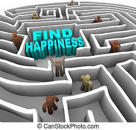 manera, hallazgo, felicidad, su