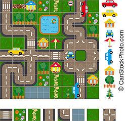 mapa, esquema, calles