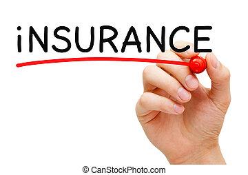 Marca roja de seguro