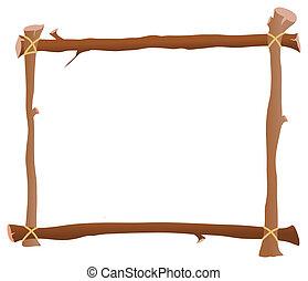 marco, de madera