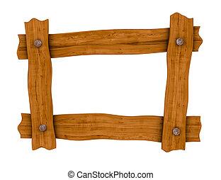 marco de madera, tabla