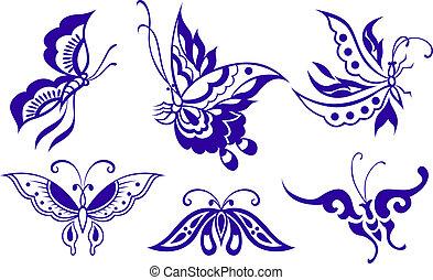mariposa, ilustración
