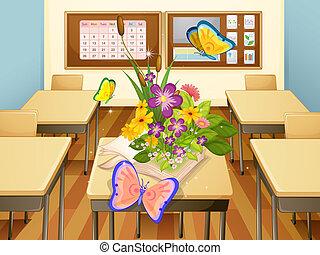 Mariposas en un aula