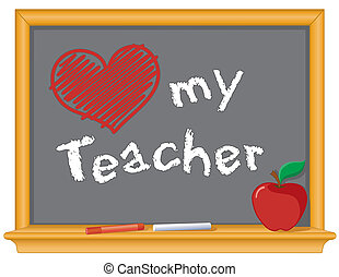 Me encanta la pizarra de mi profesor