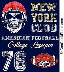 Mecanografía deportiva de fútbol, gráficos de camisetas, vectores