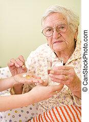 Medicación para una anciana